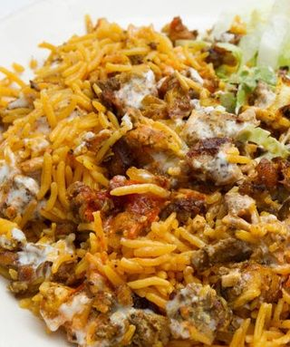 Halal Cart Style Chicken And Rice With White Sauce Recipe West