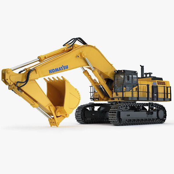 3Ds Max Hydraulic Excavator Komatsu Pc1250 - 3D Model | Heavy