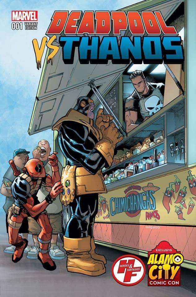 Deadpool VS Thanos #1 Exclusive Alamo City Comic Con Variant Cover by Humberto Ramos