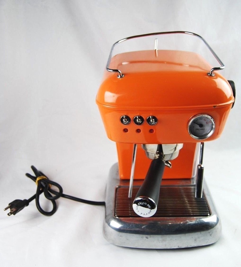 Ascaso Dream Up Orange With Accesories Tested Works Ascaso Dream Espresso Machine Orange Accesories