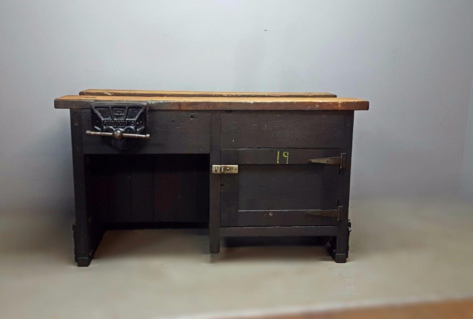 Marvelous Vintage Retro Industrial School Workbench Excellent Pabps2019 Chair Design Images Pabps2019Com