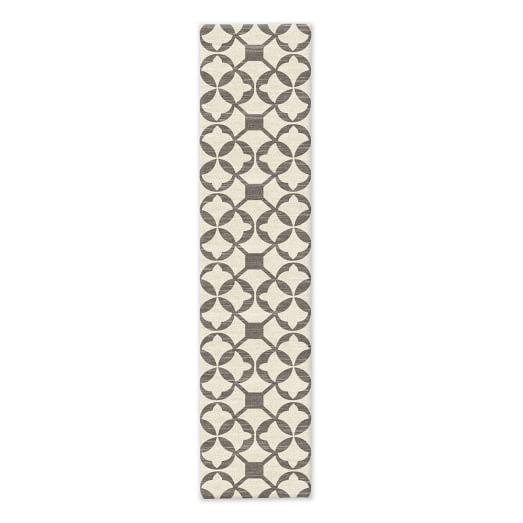 SPO Tile Wool Kilim Rug, Platinum