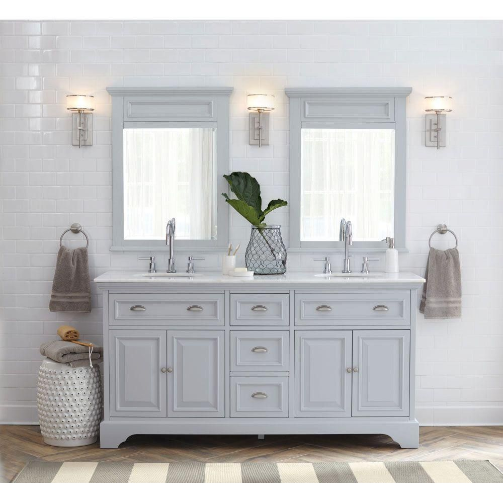 Home Decorators Collection Sadie 67 In. W Vanity In Dove