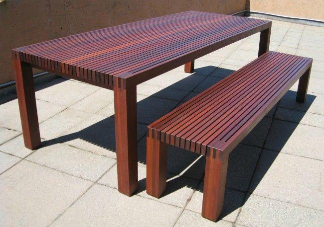 Super 6 Slatted Outdoor Table Bench Ipe Bench Yep Wood Table Short Links Chair Design For Home Short Linksinfo
