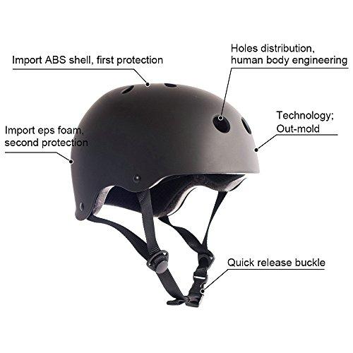 Adult Skateboard Helmet 11vents Adjustable Straps Protective