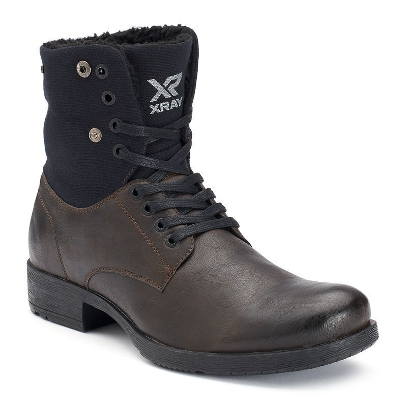 Advanced XRay Pike Men's Faux Shearling Boots Black