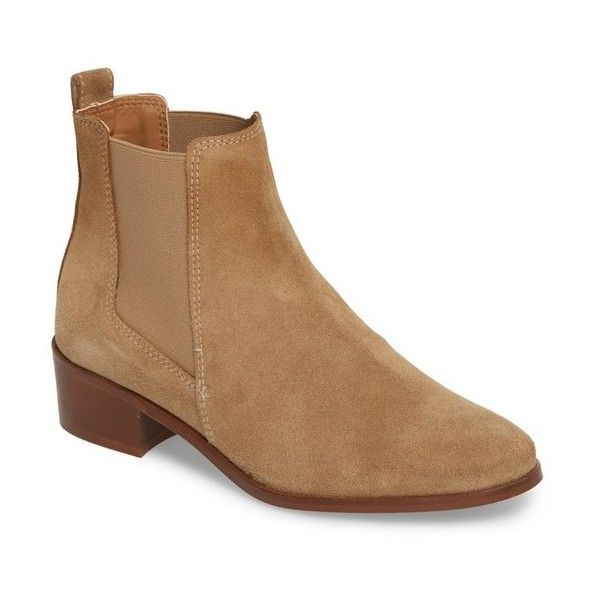51dd224060d Women s Steve Madden Dover Chelsea Bootie featuring polyvore women s  fashion shoes boots ankle booties taupe suede
