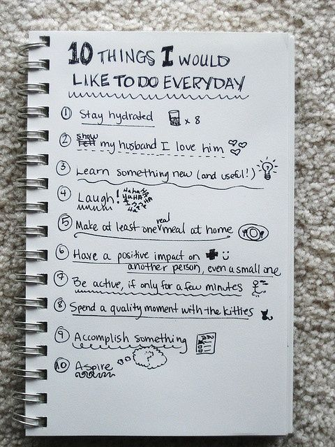 Photo of list of 10 things