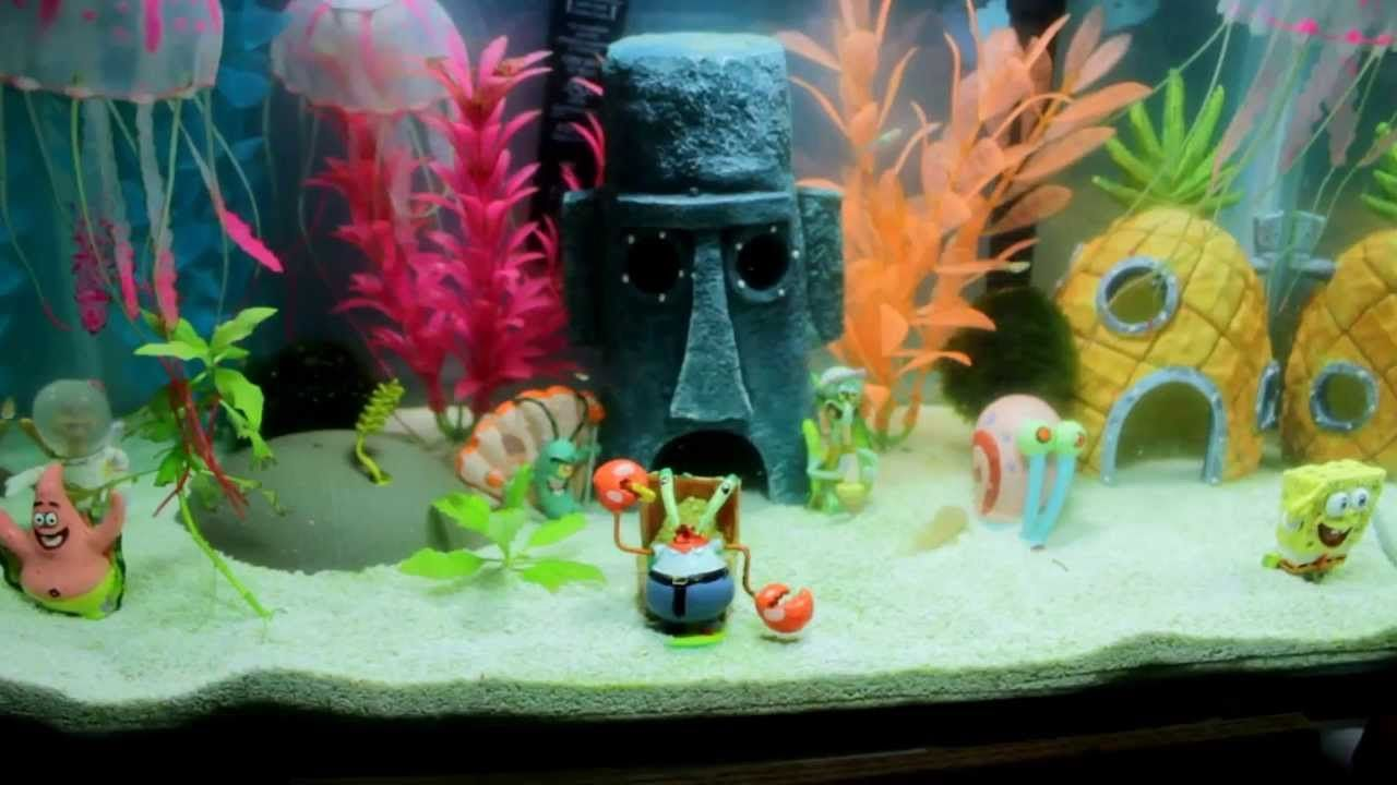 Best complete spongebob theme aquarium spongebob for Aquarium decoration themes