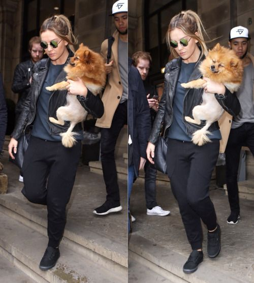 Perrie with her dog