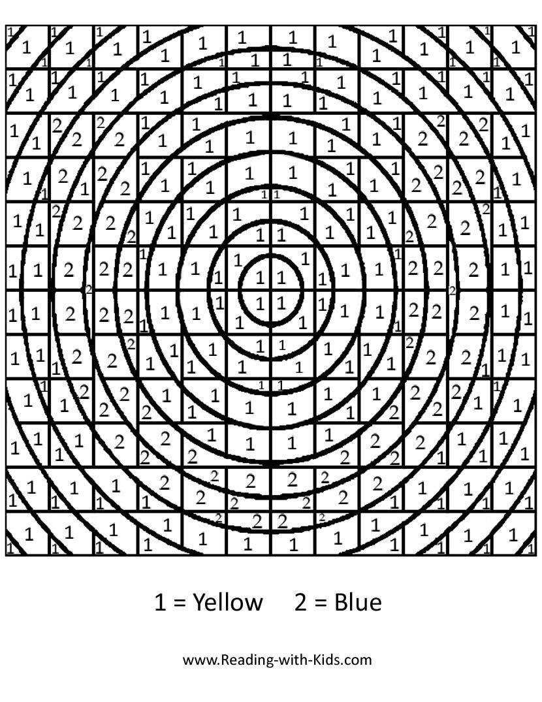 Color by number | vo | Pinterest | Colorear, Números y Pintar