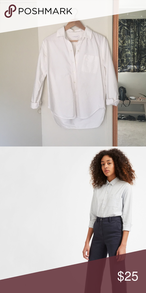 c2d9f734 Everlane Women's Japanese Oxford Shirt Relaxed women's Oxford shirt in White.  Gently worn. Everlane Tops Button Down Shirts