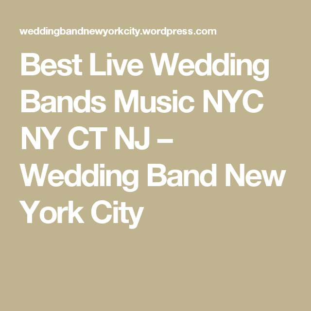 Live wedding bands in ct