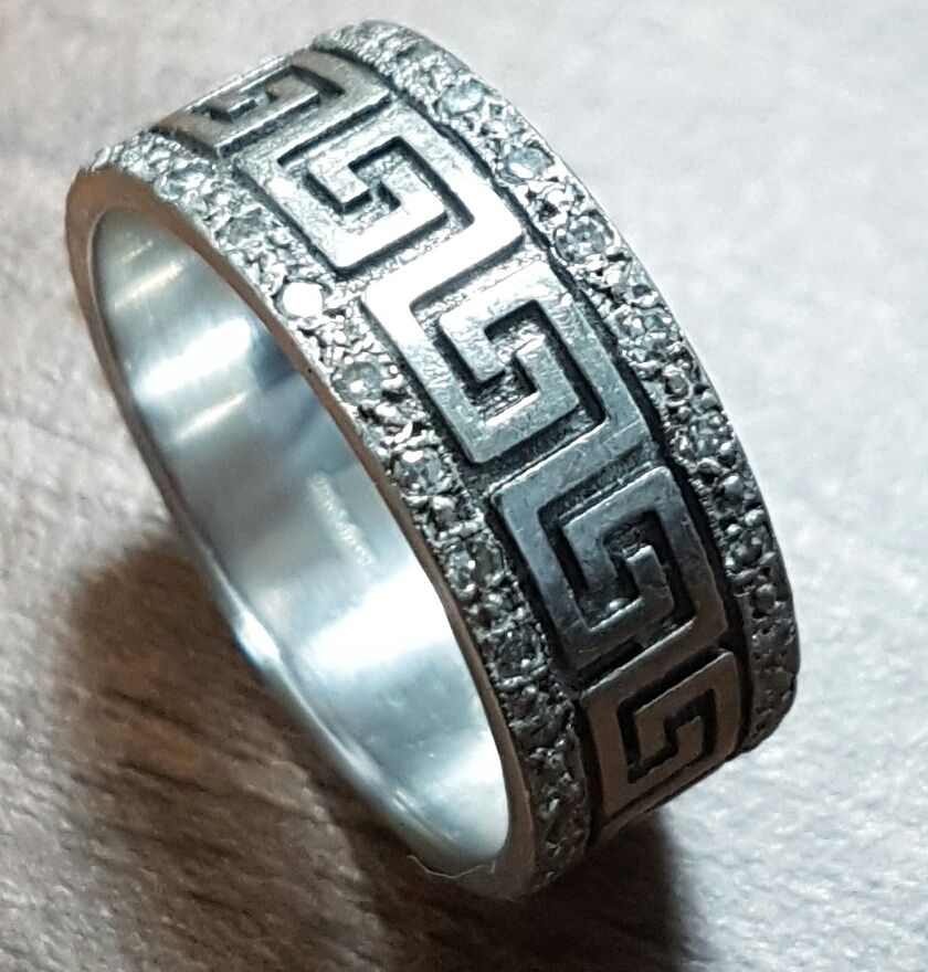 Had this made from my own design for our Mexican wedding White gold