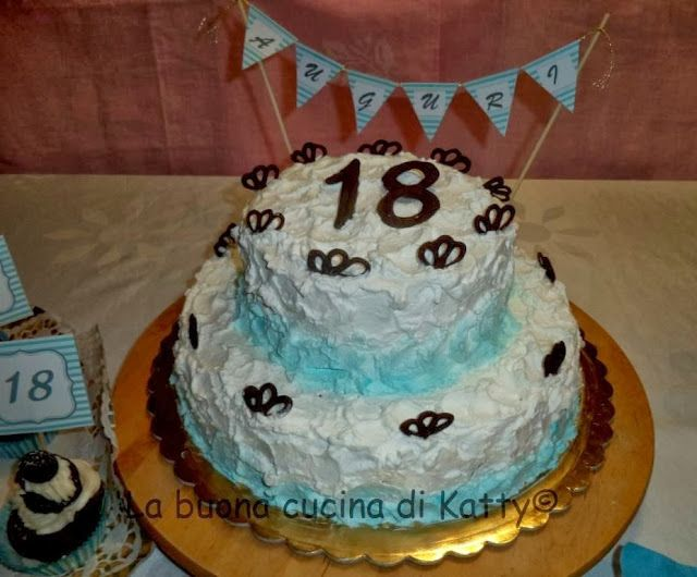 La buona cucina di katty torta nuvolata per i 18 anni di - La cucina di sara torte ...