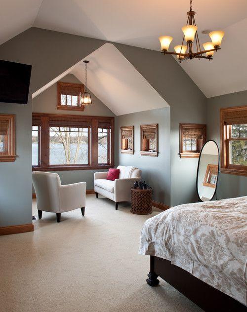 Wonderful Paint Colors For Wood Trim #2: Gray Paint Colors With Wood Trim