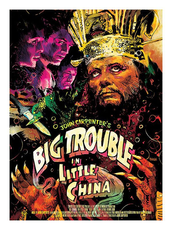 Big Trouble In Little China Art By Dan Panosian Movie Art Alternative Movie Posters Classic Movie Posters