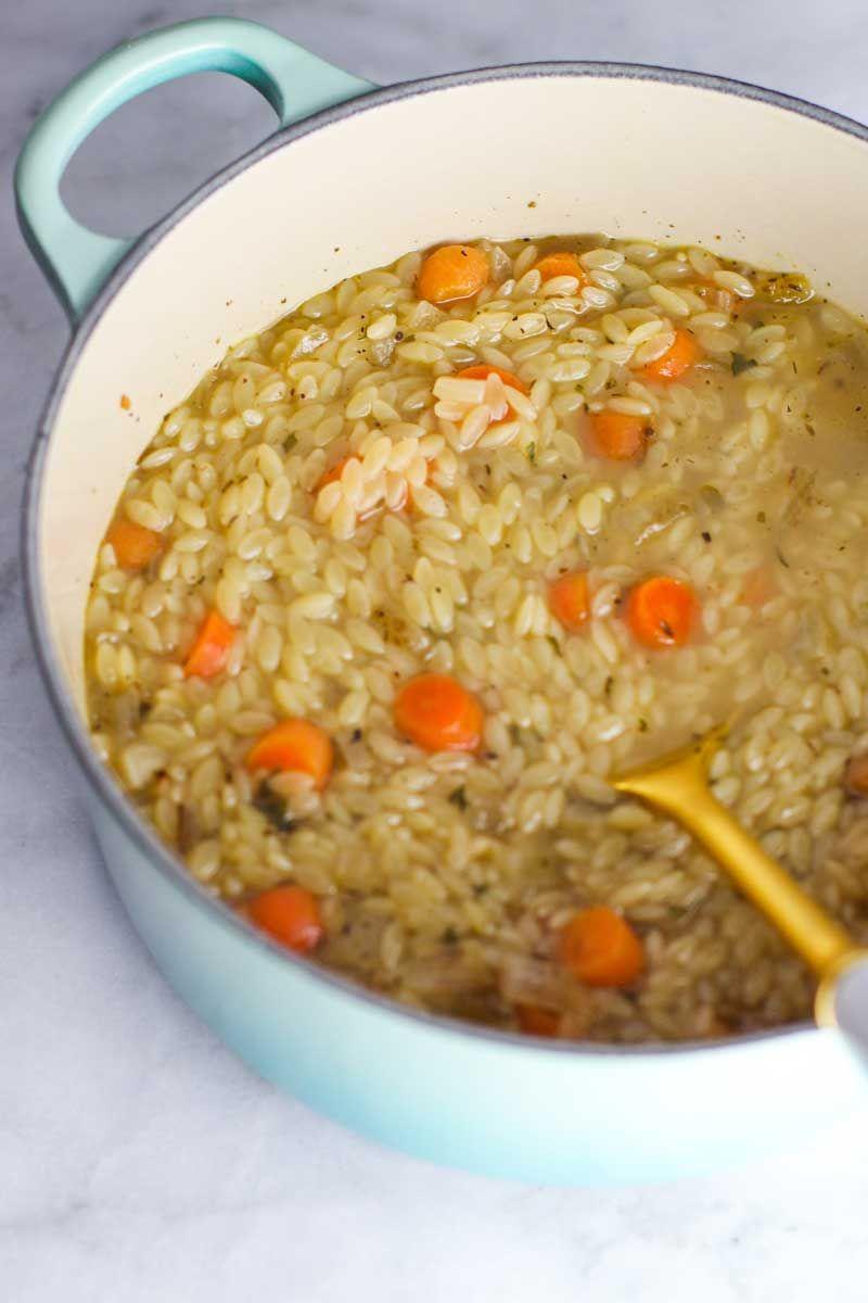 recipe: creamy chicken orzo soup [31]