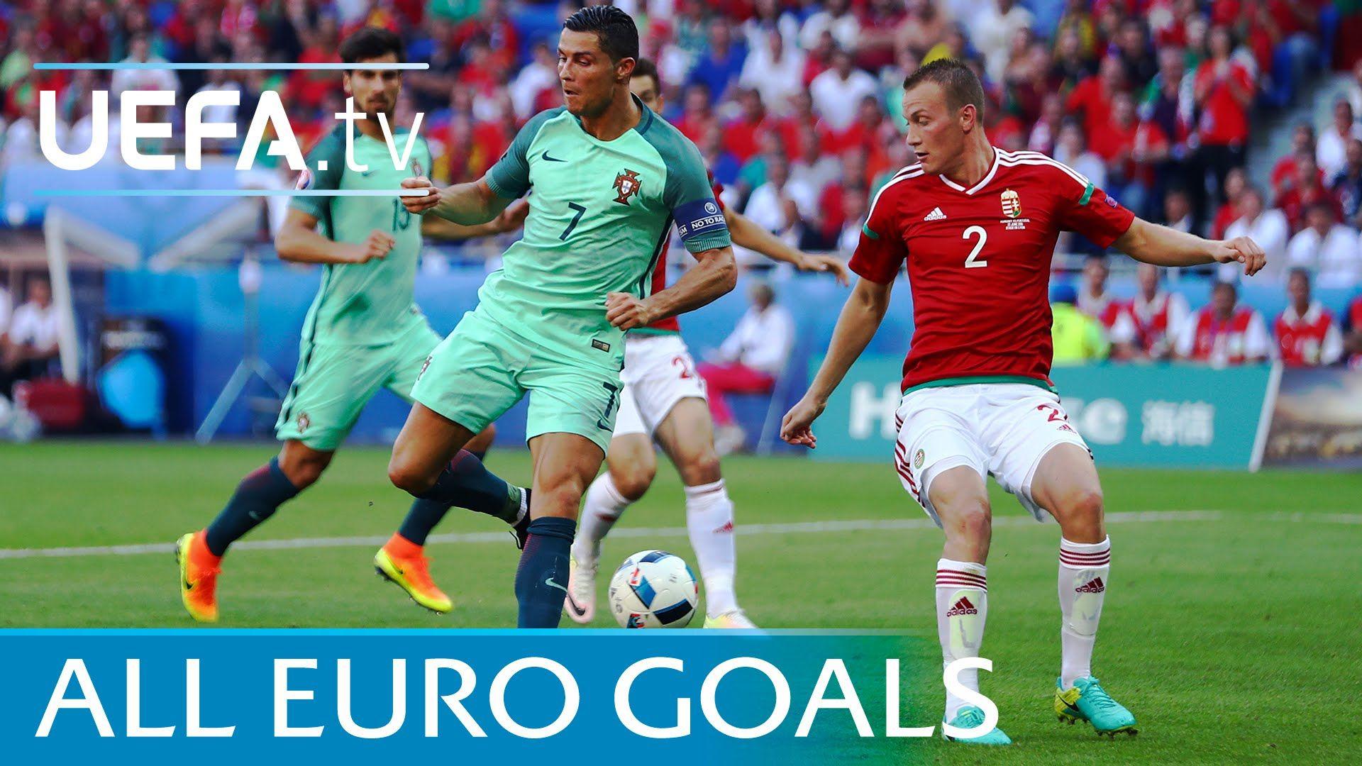 All 108 Uefa Euro 2016 Goals Watch Every One Cristiano Ronaldo Football Euro Uefa Euro 2016