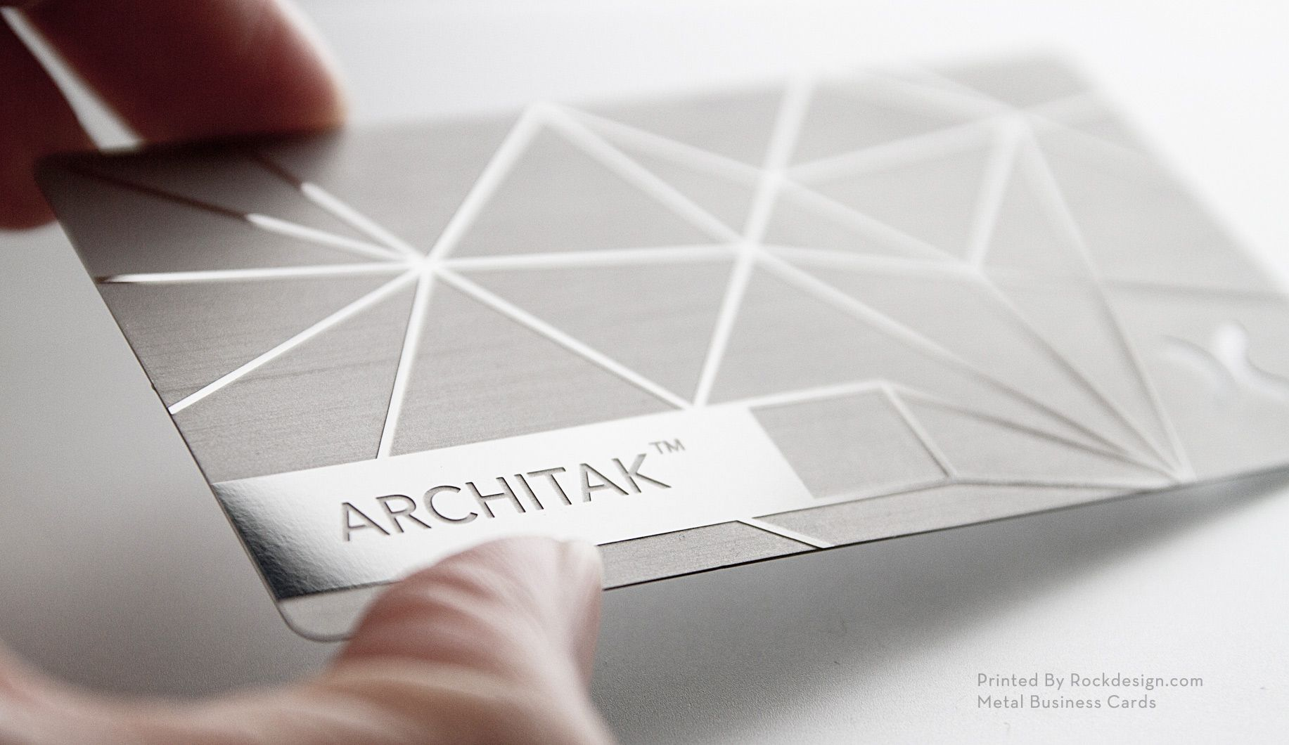 Metal business cards. Now that\'s something to aspire to ...