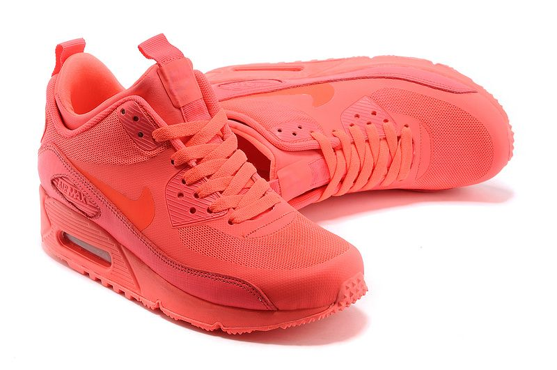 womens nike air max 90 sneaker boot ns solar red white and blue
