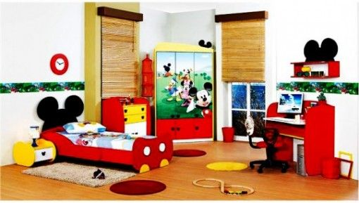 Mickey Mouse Themed Girls Room Designs