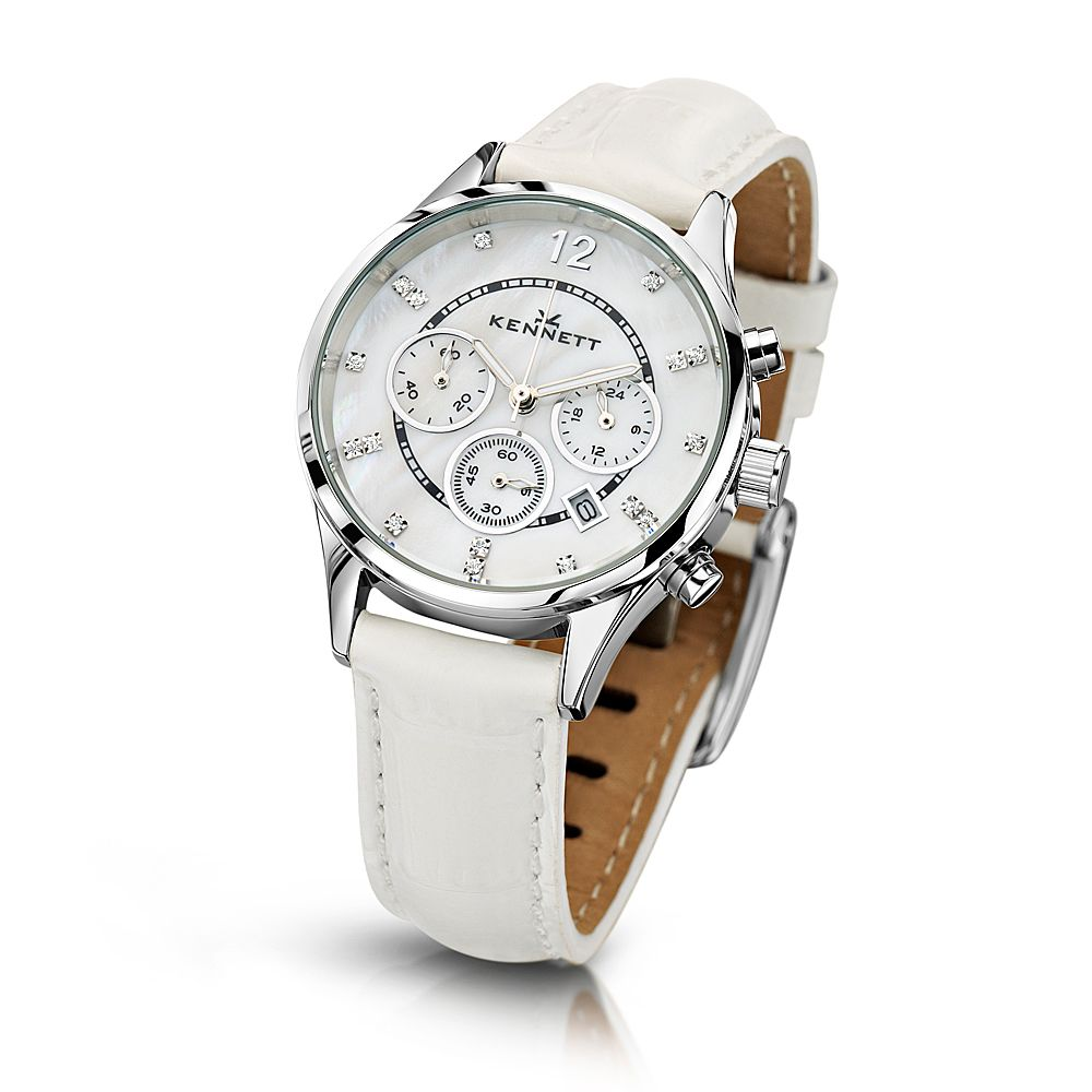 watches analog band watch fashion wrist lady quartz women white itm round leather