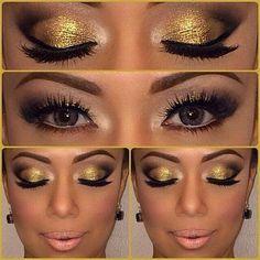 Black And Gold Cheer Makeup Google Search Cheer Makeup Golden
