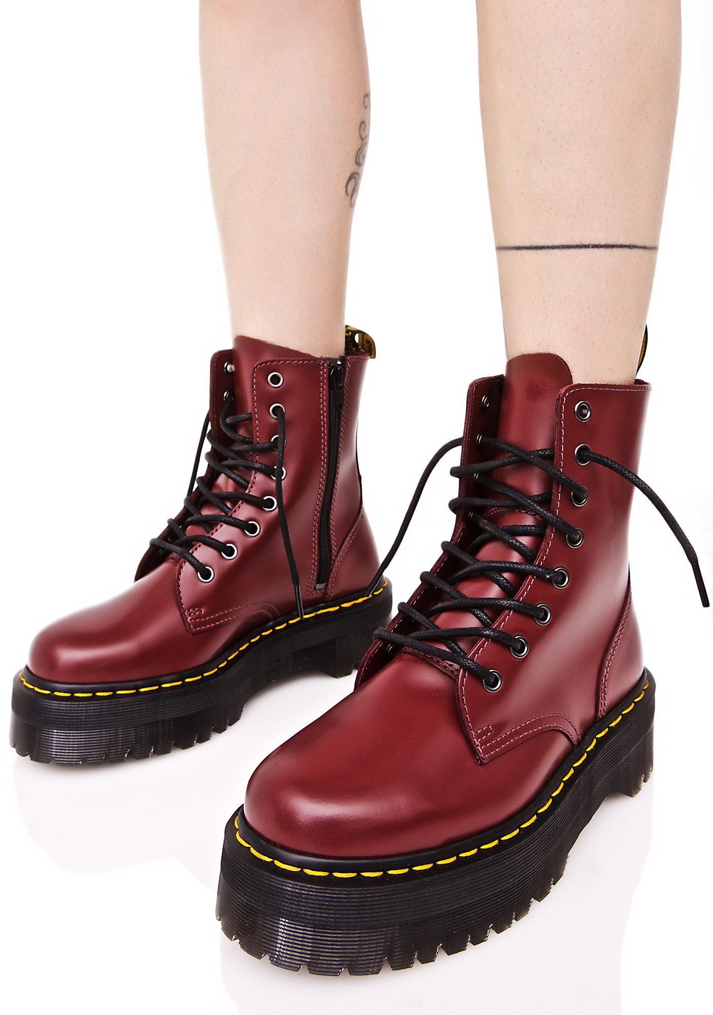 Jadon In Cherry Red | Boots, Shoe show