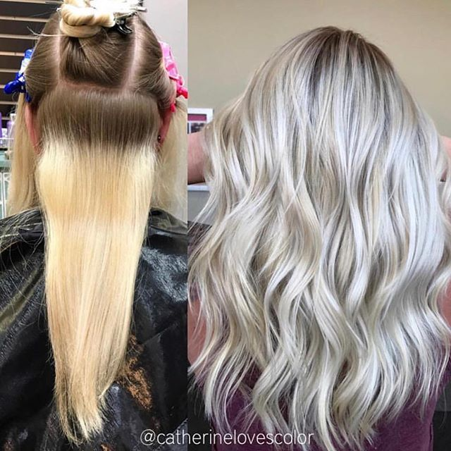 When Your Hair Looks Healthier After Bleach Transformed With Olaplex By Catherinelovescolor Don T Bleach Cool Blonde Hair Blonde Hair Color Balayage Hair