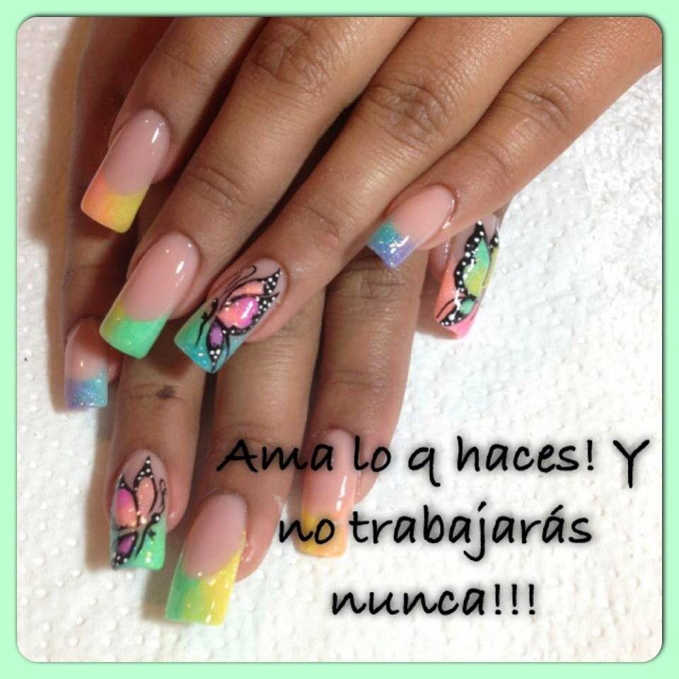 Uñas encapsuladas! | Uñas | Pinterest | Artificial nails, Beautiful ...