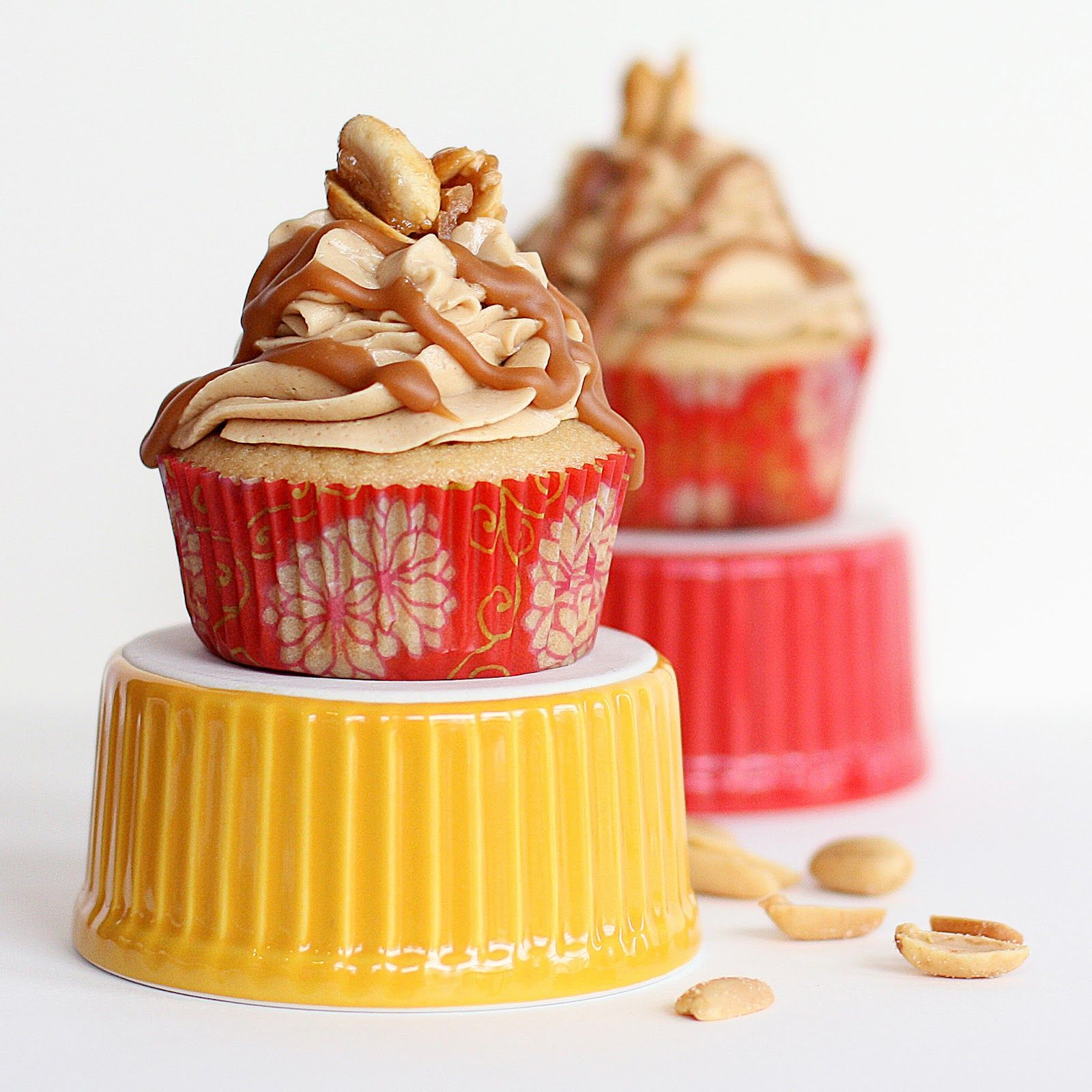 Sprinkle Charms: Caramel Peanut Butter Cupcakes