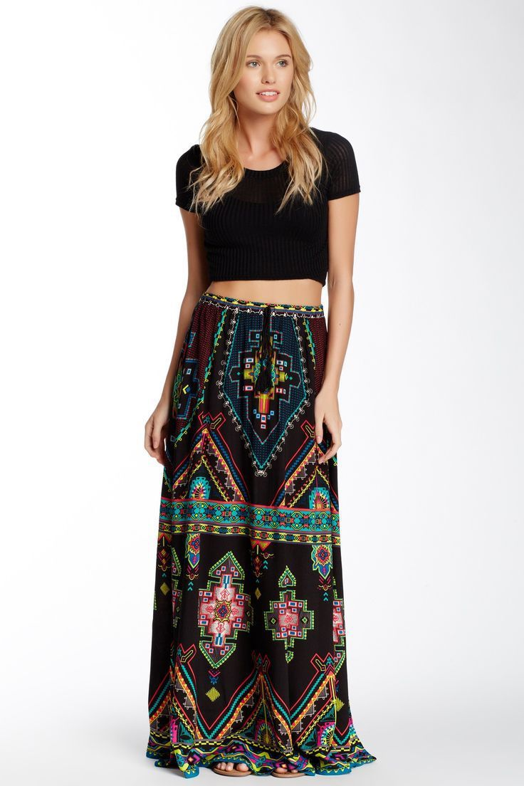 Aliexpress.com : Buy wholesale Boho skirt Aztec skirt Bohemia maxi ...