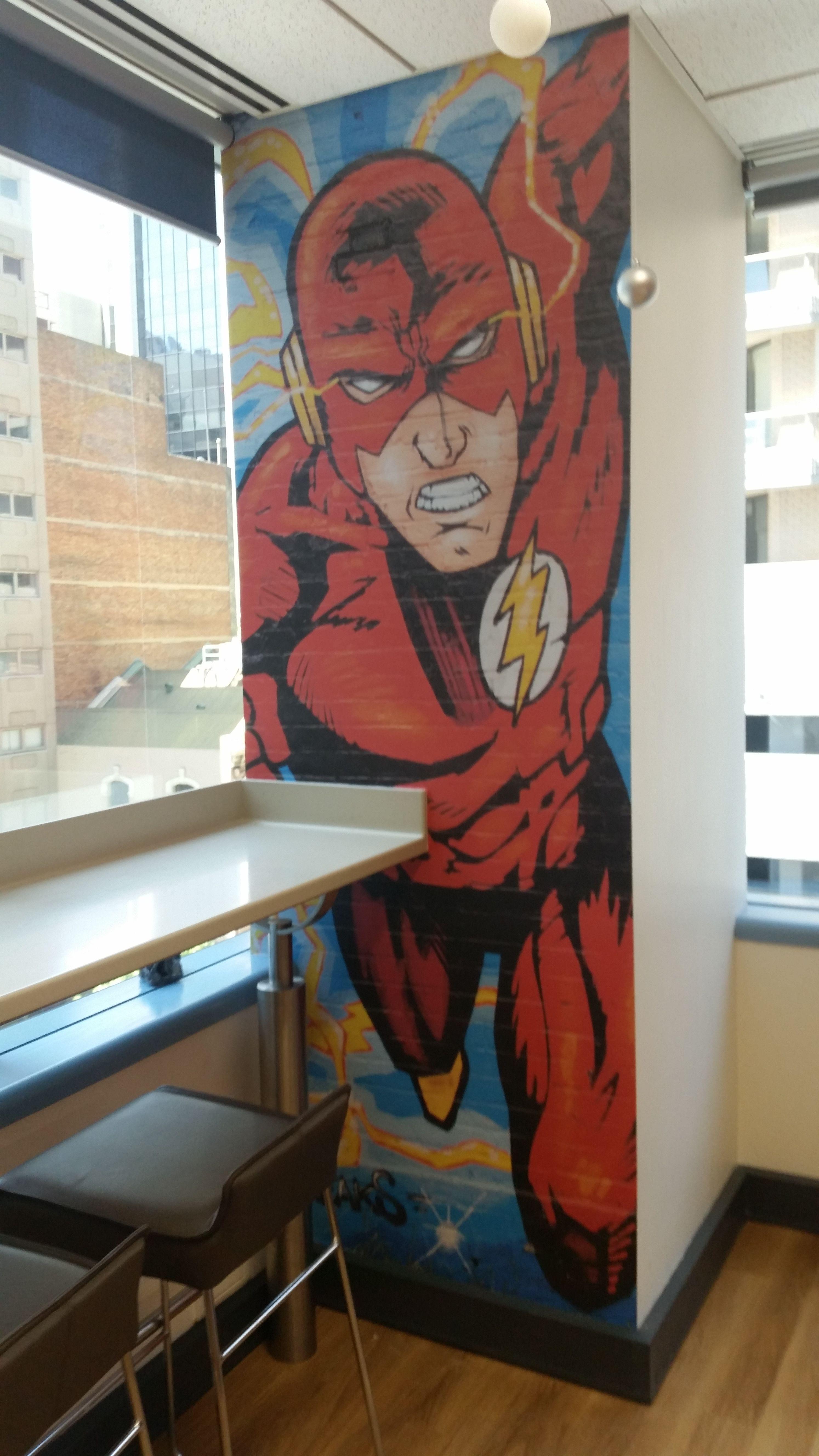 The Flash Wall Mural Wall Murals Mural Printed Shower Curtain