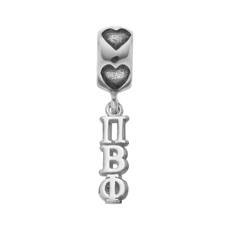 LogoArt Sterling Silver Pi Beta Phi Sorority Charm, Women's, Grey