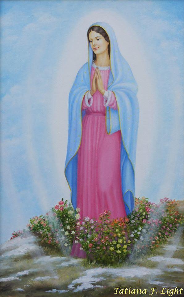 «The Virgin of Guadeloupe»    painter  Tatiana F. Light  «Гваделупская Дева»