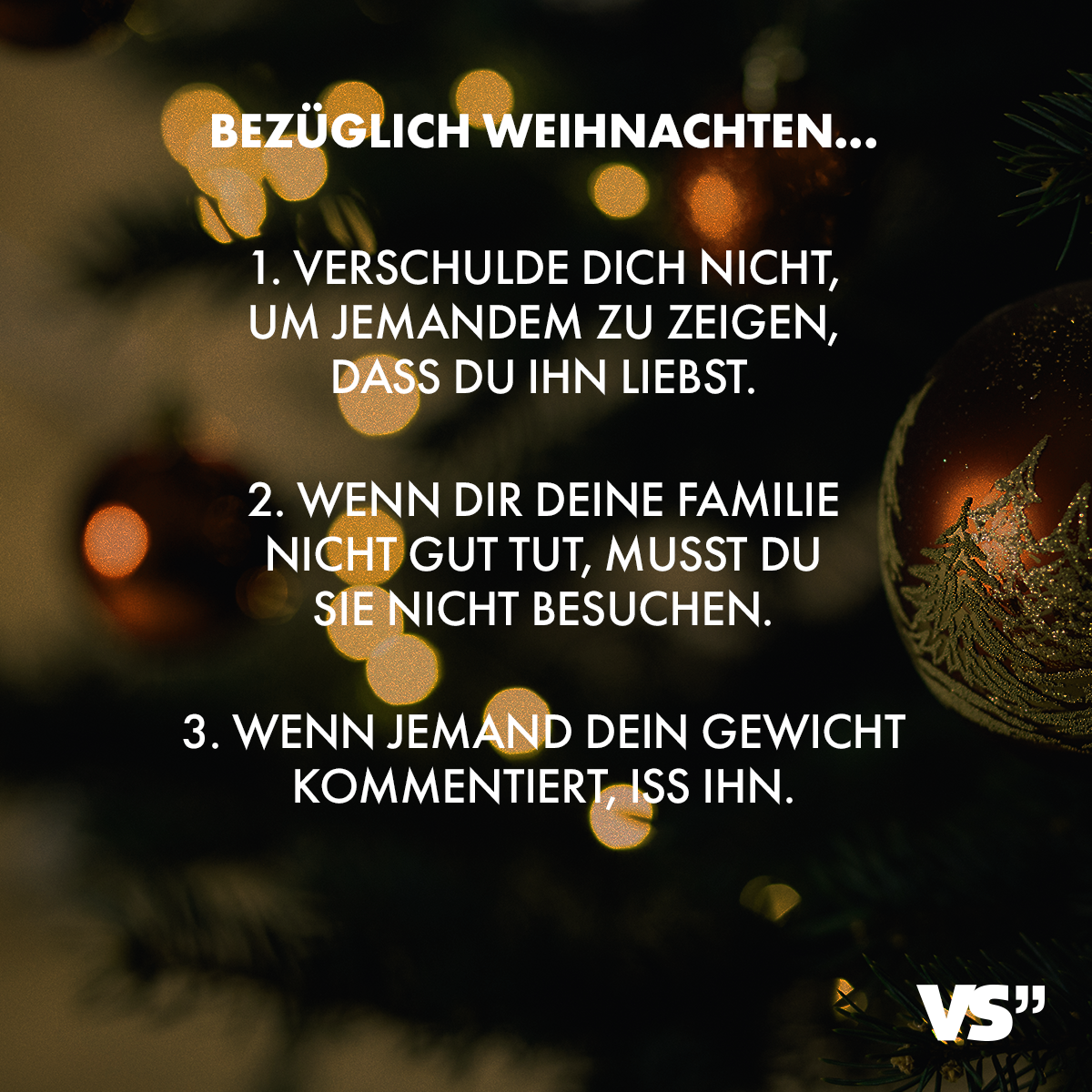 Weihnachtsgrüße Für Putzfrau.Visual Statements Bezüglich Weihnachten 1 Verschulde Dich Nicht