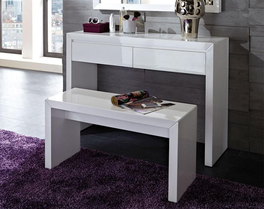 Lovely Fino Console Table In High Gloss White With 2 Drawers   18376 Browse Our  Cool Range Of Console Tables, Here At Furniture In Fashion.