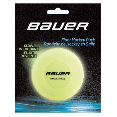 Black Bauer Ice Hockey Puck