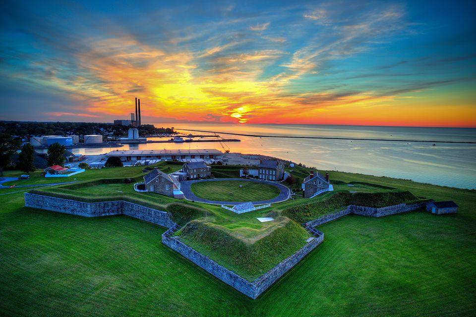 Sunset over Fort Ontario Oswego NY(960640) #reddit