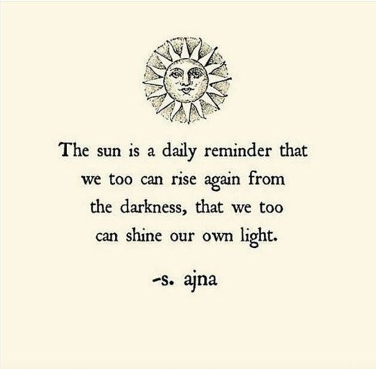 Image result for the sun is a daily reminder quote