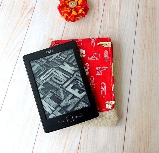 Red Kindle case kindle cover kindle paper white sleeve by chezvies