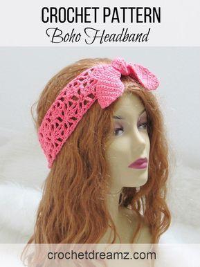 Crochet Headband Pattern for Women - Crochet Dreamz #crochetedheadbands
