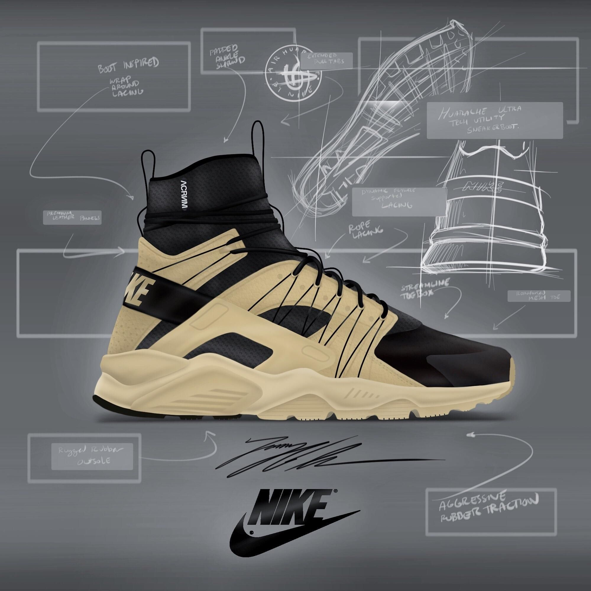 Nike Huarache ACRONYM Bamboo concept- Im an aspiring footwear designer I  thought it might be cool to show some of my work on here. 76a278d8026b