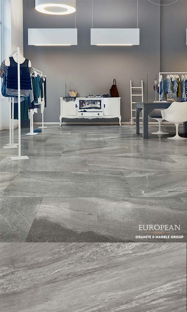 Featured Here Is Our New Florim Luxury Porcelain Tile Collection In The Design Burlington Grey Polished Why Ch Retail Space Design Stone Tiles Color Tile