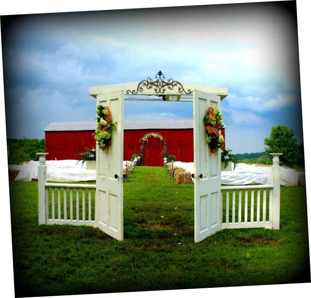 Outdoor Wedding Ceremony Doors: Wedding Decor...@ Flowers By Tammy... Vintage Doors For