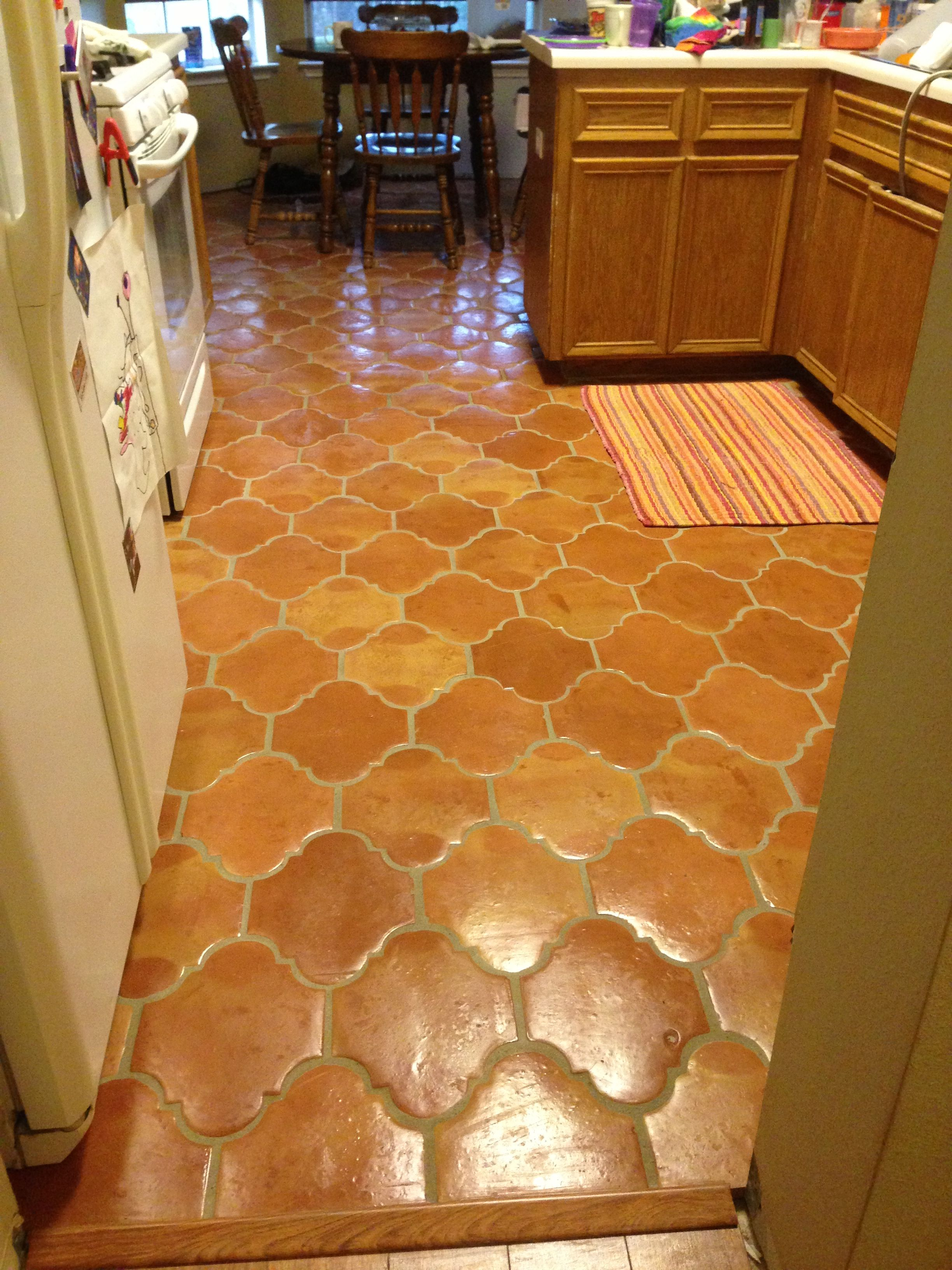 San Felipe Saltillo Grout Still Lots Of Work To Do In The Kitchen But Tile Is Done