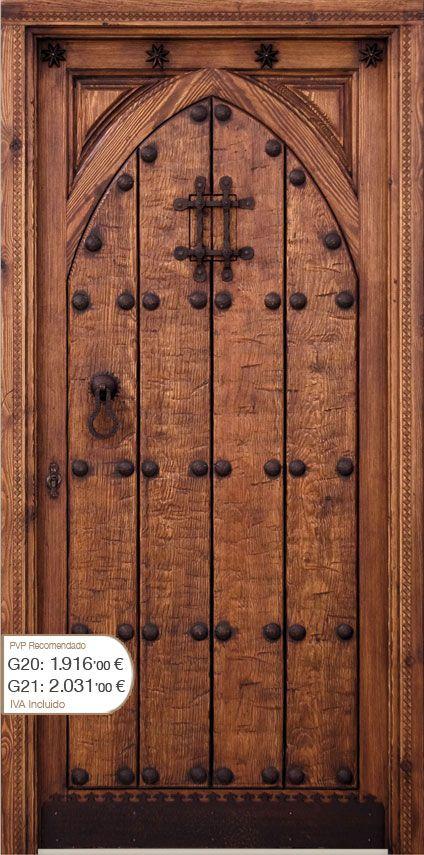 Puertas de madera rusticas buscar con google un arte for Puertas principales de madera rusticas