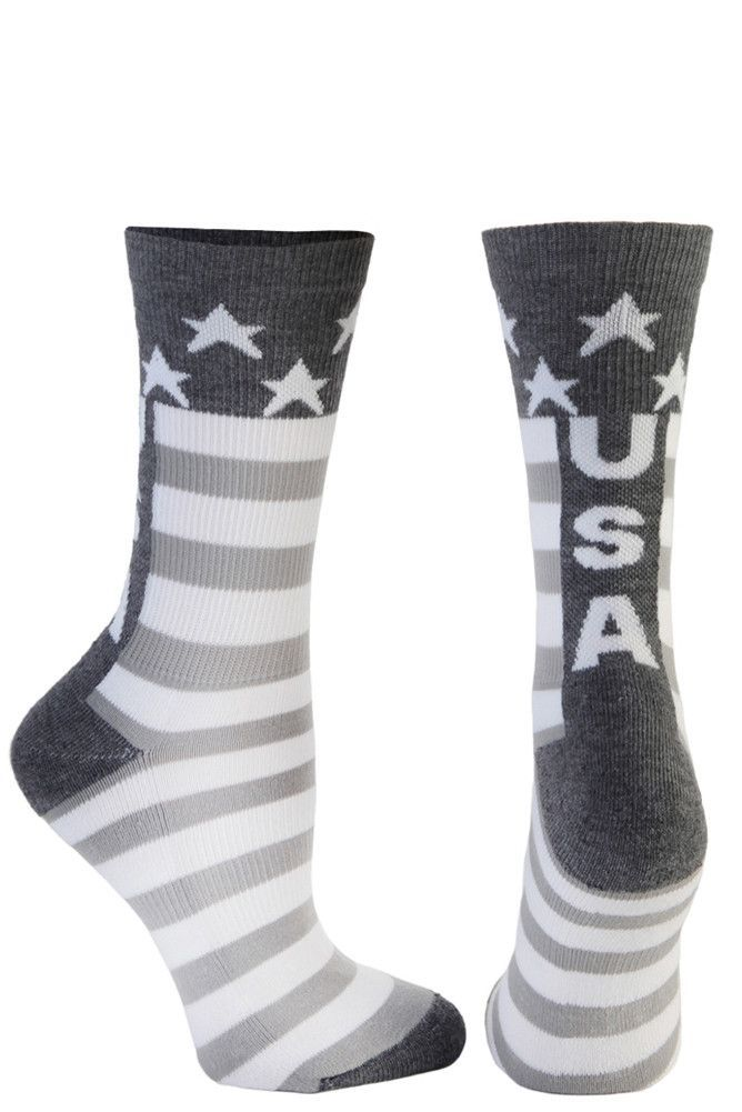 USA Crew Sock - Grey