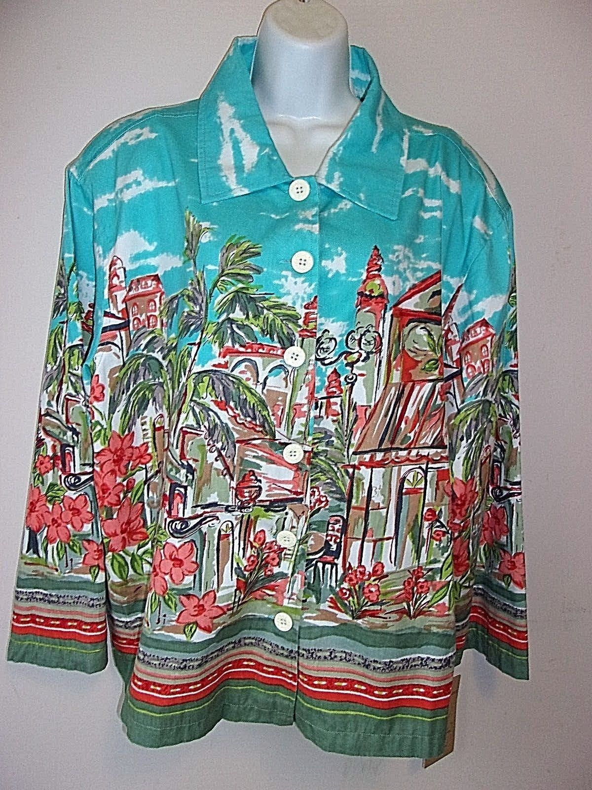 d1ab69115ce  Life Style woman Jacket Plus Size 3X tropical scape art scene